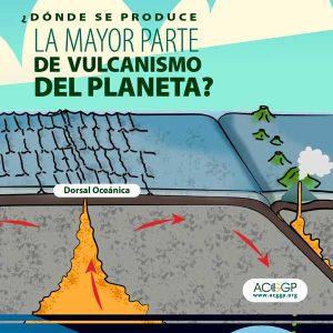 ¿Dónde se produce la mayor parte de vulcanismo del planeta?