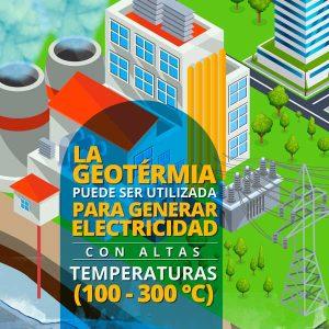 la geotermia puede ser utilizada para generar electricidad