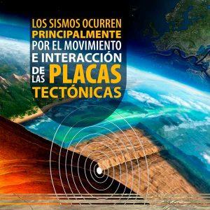 Los sismos ocurren principalmente por el movimiento e interacción de las placas tectónicas