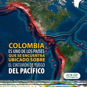 Colombia es uno de los países que se encuentra ubicado sobre el cinturón de fuego del pacífico