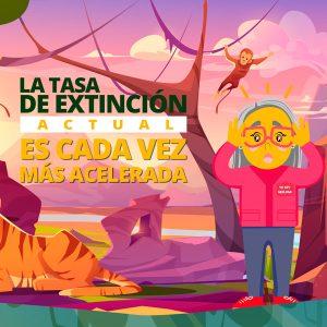 tasa de extinción acelerada