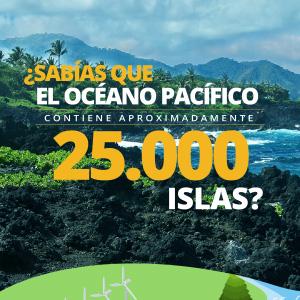 en el océano pacífico hay 25000 islas