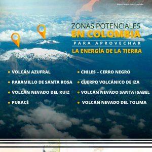 Zonas potenciales en Colombia para aprovechar la energía de la tierra