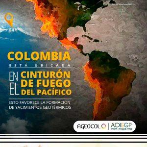 Colombia esta ubicada en el cinturón de fuego del pacífico