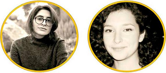 Nia Schamuells y Laura Román