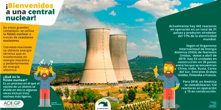 Don David en una central nuclear