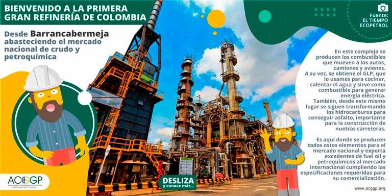 Don David en la primera refinería del país Barrancabermeja