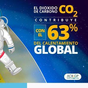 El CO2 contribuye al 63 % del calentamiento global