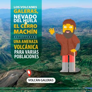 Los volcanes Galera, nevado del Huila y el cerro Machínn